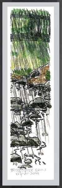 BRIDGEWATER RAIN.  Monoprint