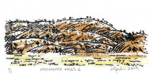 Mid North Hills 2   Monoprint