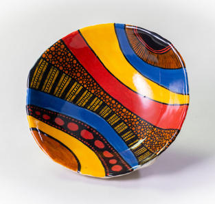 Abstract Stripe Bowl