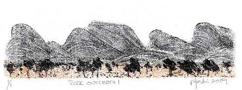 Rock Outcrops 1   Monoprint