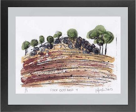 Monoprint, landscape