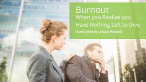 Burnout: When you Have Nothing Else to Give
