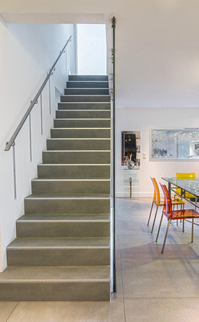 Concrete + Tile Stairs