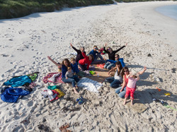 Entre amis sur la plage Landéda
