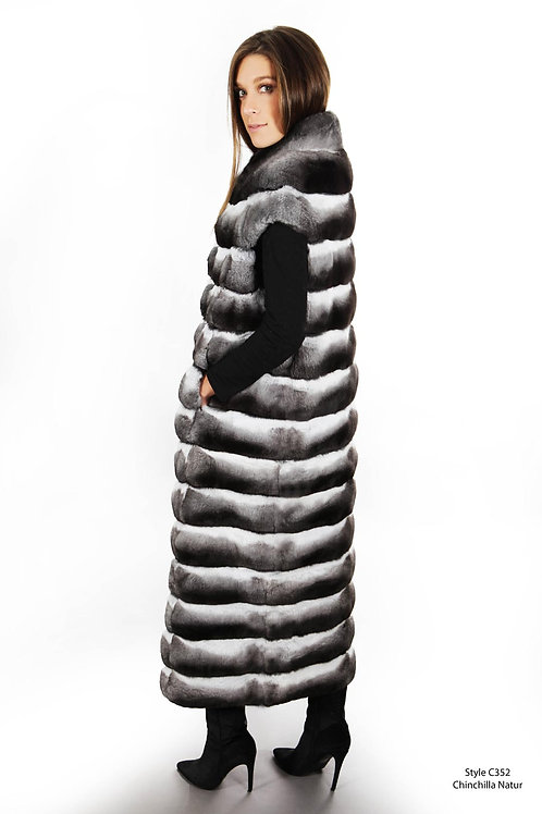 Chinchilla Long vest