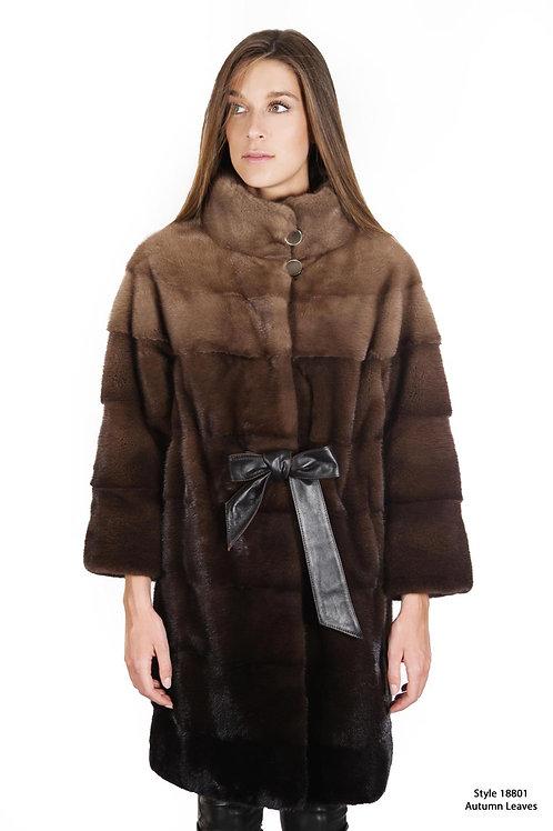 Ombre mink coat