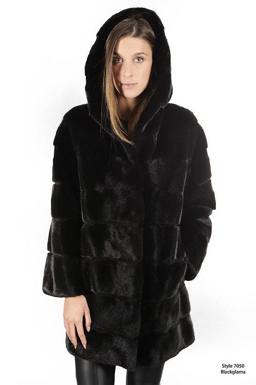 Blacklama hooded coat