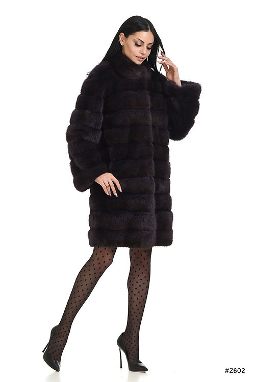 Straight cut sable coat