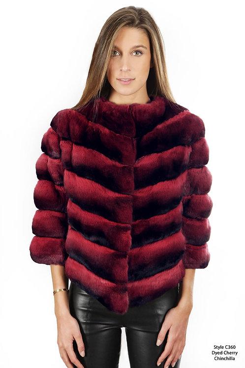 Cherry Chinchilla short jacket