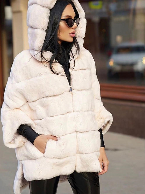 Hooded rex coat