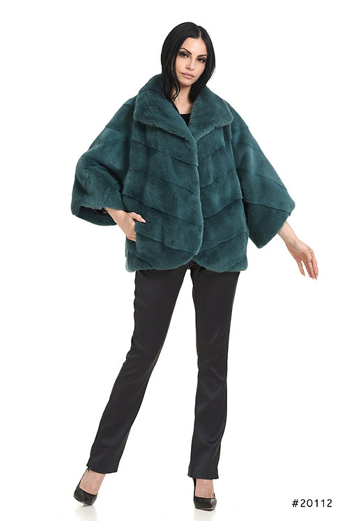 Oversized mink coat