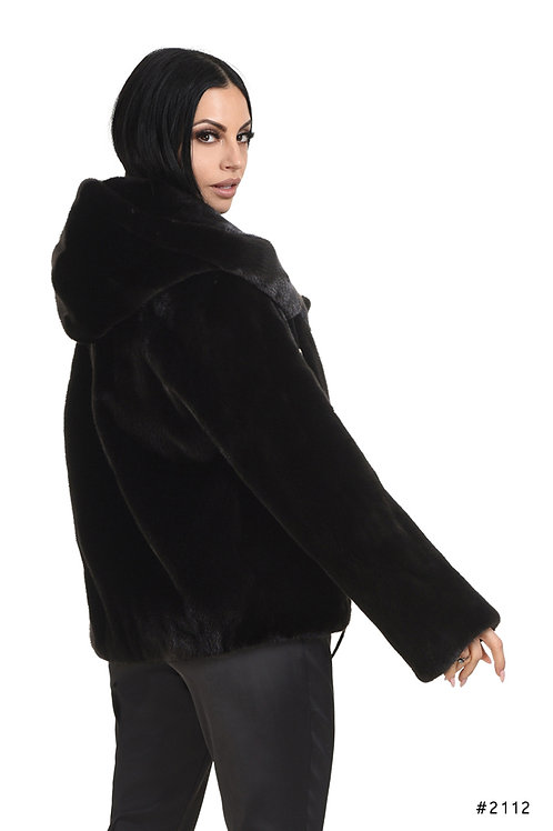 Hooded & sporty mink jacket