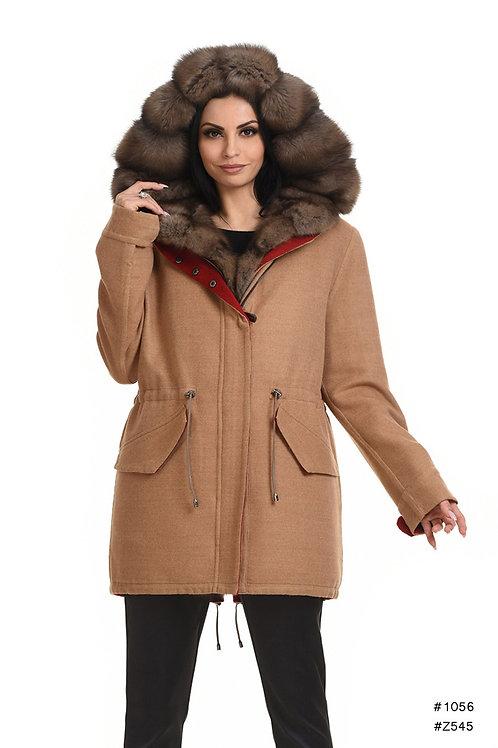 Loro Piana cashmere parka with detachable sable vest