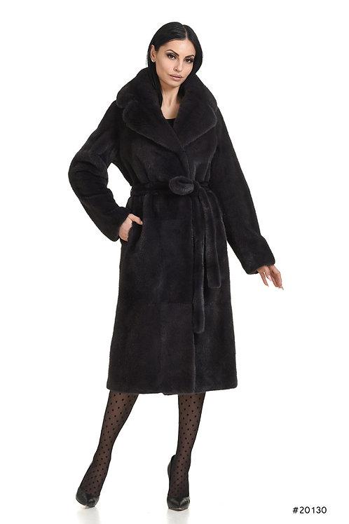 Classy mink coat with belt
