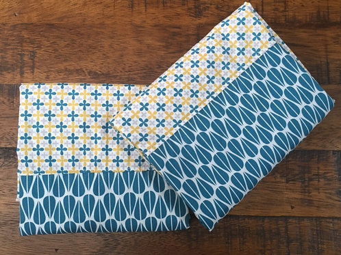 Organic Cotton King Pillowcases-Blue Jacks