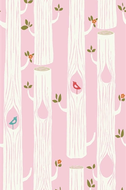 birch  TREE STRIPES pink