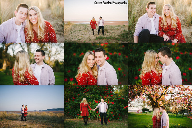 Katie & Callum's Pre-Wedding Shoot, Swansea Bay