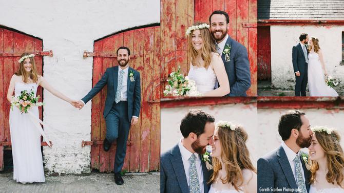 Billie & Rhys's Wedding, Llanegwad Church & Teepee, Llanarthney