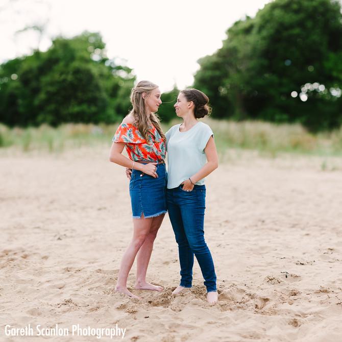 Sophie & Kiri's Pre-Wedding Shoot, Swansea Bay