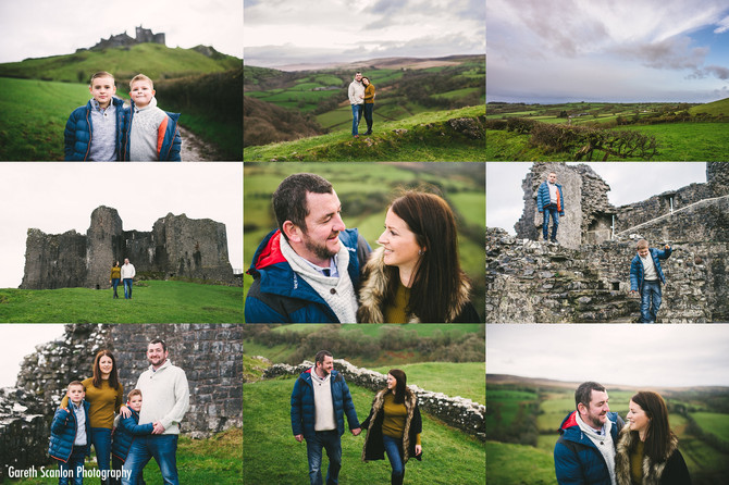 Gemma & Paul's Pre-Wedding Shoot, Carreg Cennen Castle, Trapp