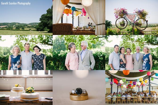 Peter & Vera's Golden Wedding Anniversary, Cwmcarvan, Monmouthshire