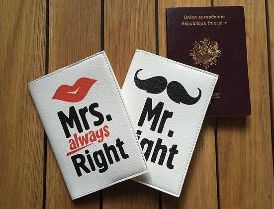 Pack Mariage - Deux étuis passeport en cuir - Lune de miel
