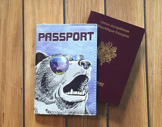 Pochette Passeport en Cuir - Ours