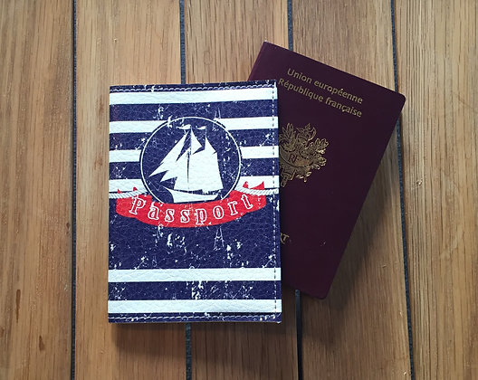 Etui Passeport Cuir - Petit Navire