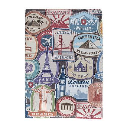 Etui Passeport en Cuir  - Capitales