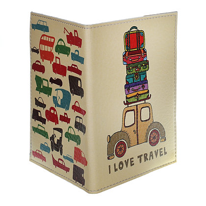 Etui Passeport Cuir - I love travel
