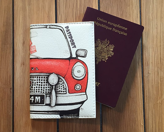 Pochette Passeport en Cuir - Citroen 2CV