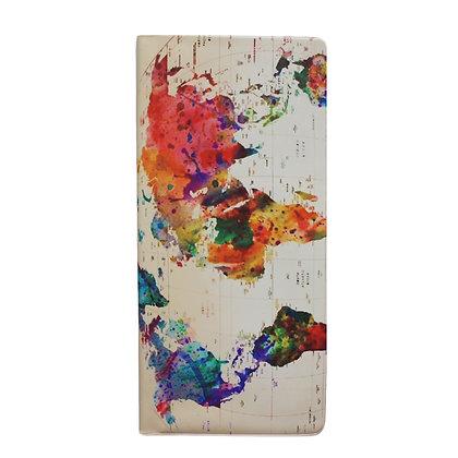 Pochette de voyage - Carte du monde coloré