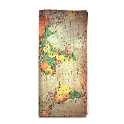 Pochette de voyage - Carte du monde