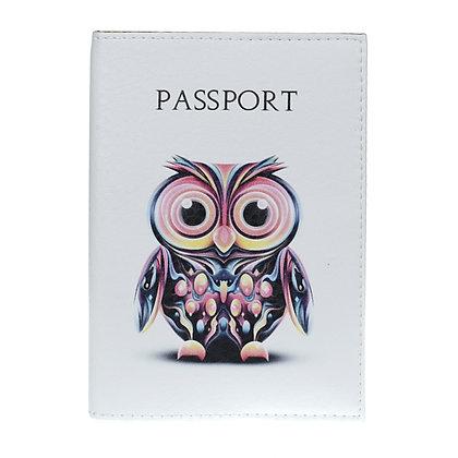 Etui Passeport en Cuir  -Chouette