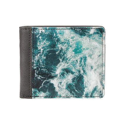 Portefeuille carré gris homme ou femme - Ocean