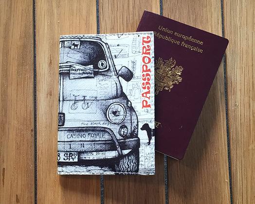 Etui Passeport Cuir - Voiture