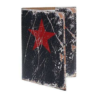 Pochette Passeport en Cuir - Etoile Rouge