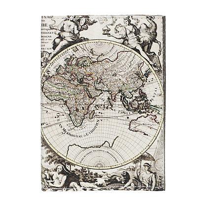 Etui Passeport en Cuir  - Carte du monde
