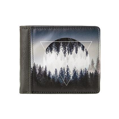 Portefeuille carré gris homme ou femme - La Lune