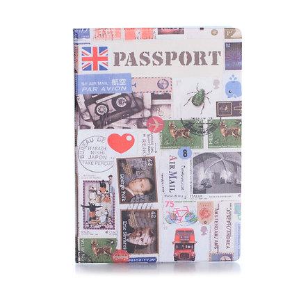 Protège passeport - Collection de timbres