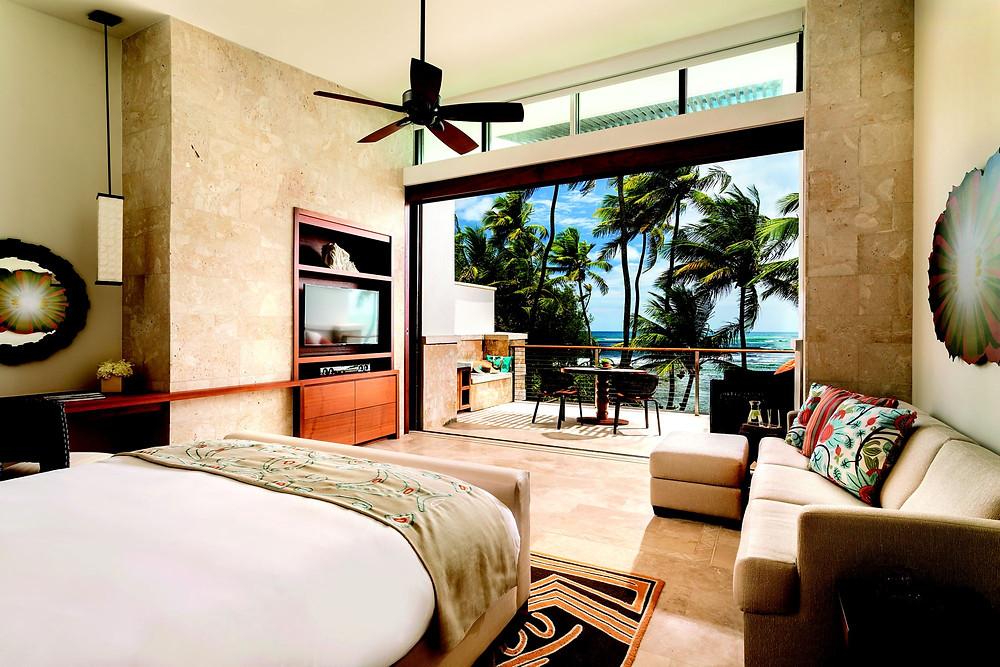 Guest room at the Ritz-Carlton Dorado Beach