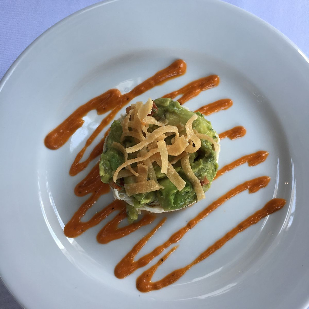 Delectable crab and avocado dish