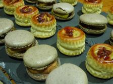 Macaron foie gras