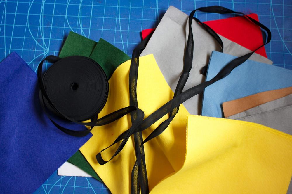 Rubik's Cube Costume Materials