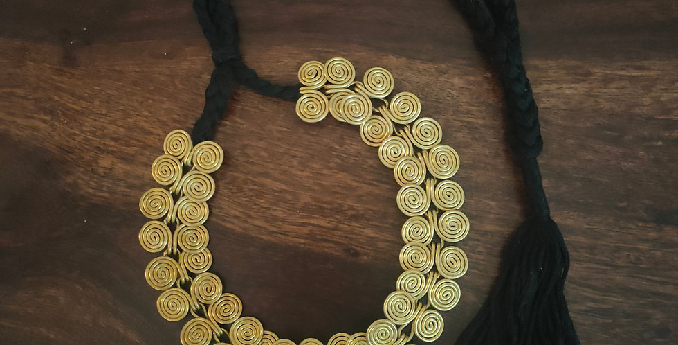 Dokra coil necklace