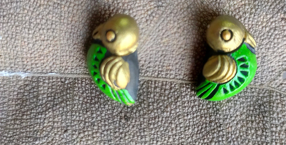 Green Clay Stud