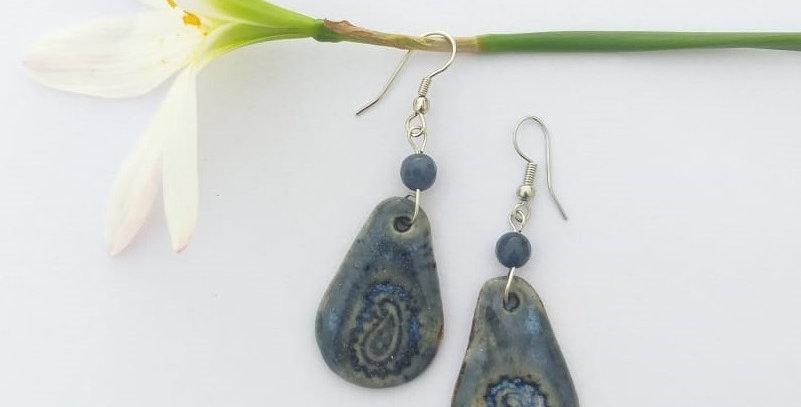 Blue Drop Ceramic Dangler