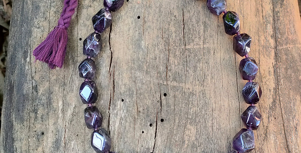 Genuine Gemstone Amethyst Necklace