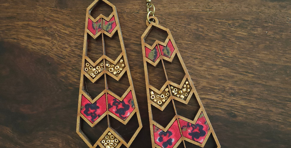 Beautiful mdf drop earring