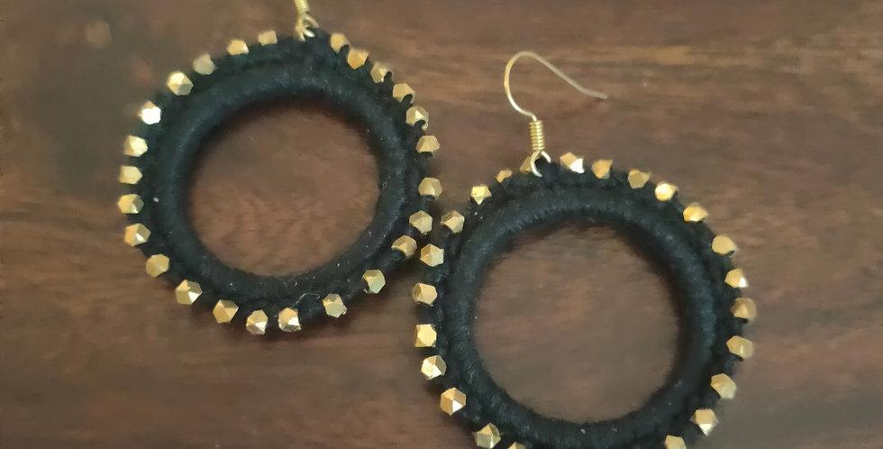 Dokra bead round earring